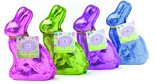 2.5 oz. Solid Milk Chocolate Foiled Sitting Bunny