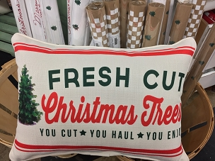 Fresh Cut Christmas Trees Pillow