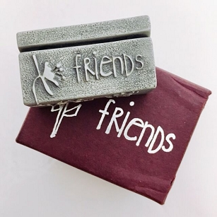 Pewter Photo Stand - Friends