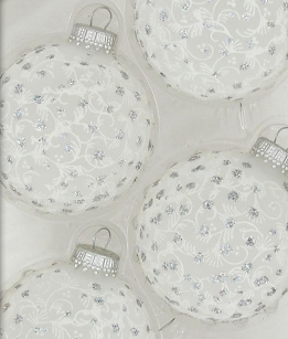 Frost Lace & Sparkles Glass Ornament