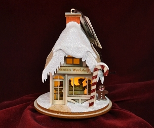 Ginger Cottage Ornament-Santa's Workshop