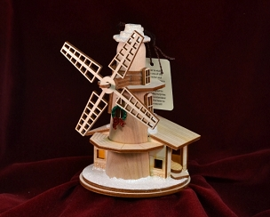 Ginger Cottage Ornament - Windmill