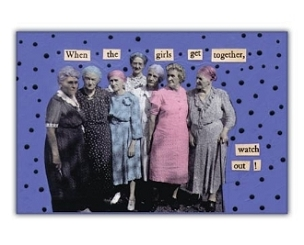Girls Get Together Magnet