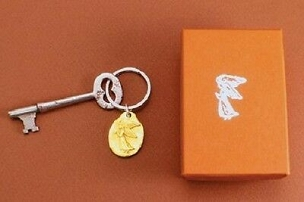 Gold Angel Key Ring