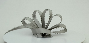 Grey Satin Picot Ribbon