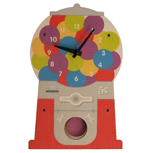 Gumball Machine Pendulum Clock