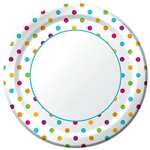 Happy Dots Paper Plate