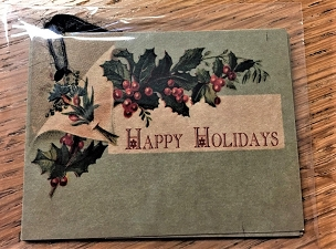 Happy Holidays Holly Gift Tag Set