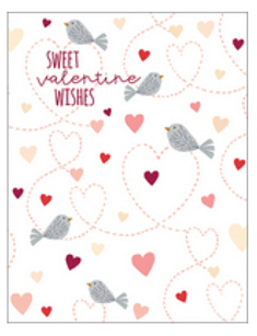 Heart Birds Valentine Card