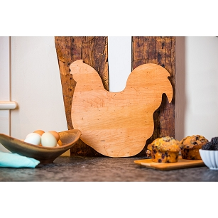 Maple Chicken Shaped Cutting Board