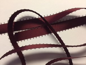 Maroon Satin Picot Ribbon