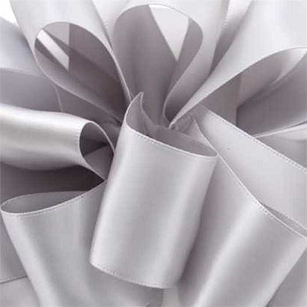 Millennium Silver Double Face Satin Ribbon