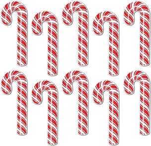 Mini Candy Cane Cutouts