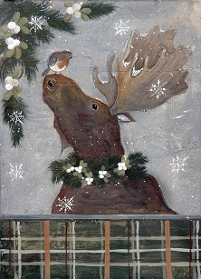 Holiday Moose Boxed Cards