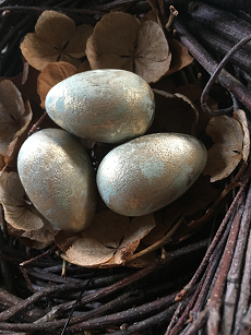 Marbled Wooden Eggs