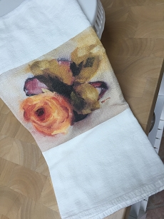 Orange Rose Tea Towel