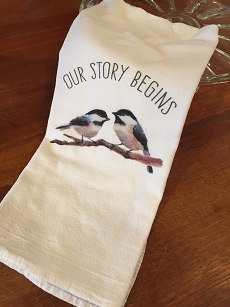 Our Story Begins Tea Towel