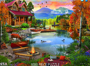 Paradise Lake 1000 Pc. Jigsaw Puzzle