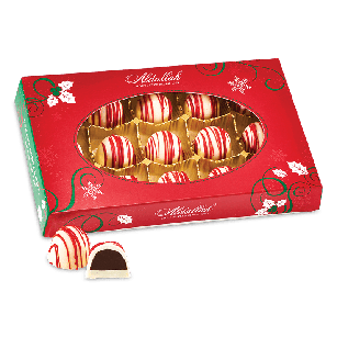 Holiday Peppermint Whipping Cream Truffles