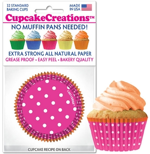 Baking Cups Standard Pink Dots