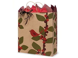 Red Bird & Berries Gift Bag - Queen