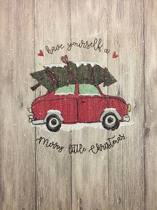 Tree on Red Car Boxed Cards