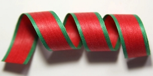 Red & Green Holiday Stripe Cotton Curling Ribbon