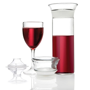 Connioisseur Savino  - Glass Wine Saving Carafe