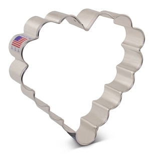 Heart Cookie Cutter - Scalloped