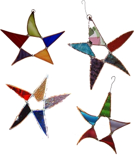 Silly Star Glass Ornament