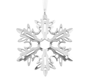 Pewter Snowflake  Ornament (#3)