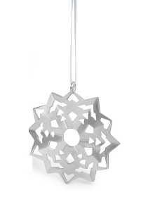 Pewter Snowflake Ornament (#6)
