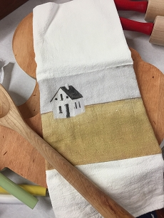 Solitude House Tea Towel