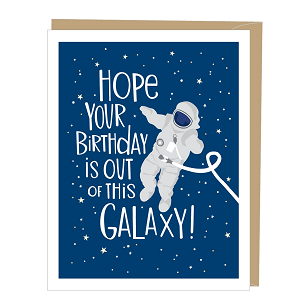 Space Astronaut Birthday Card