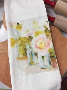 Three Vases Tea Towel