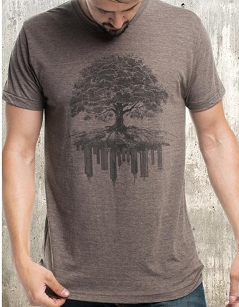 Tree & Crumbling City Tee