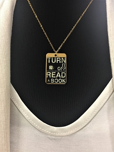 Turn It Off, Read - Dog Tag Necklace