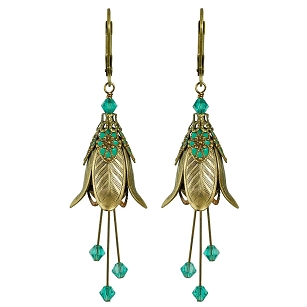 Warlock's Mistress Earrings - Teal