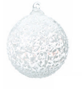 White Speckled Glass Ball