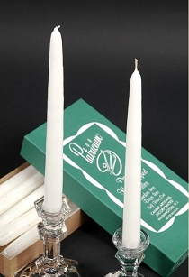 White Taper Candles