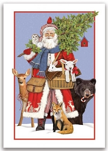 Woodland Santa Boxed Holiday Cards