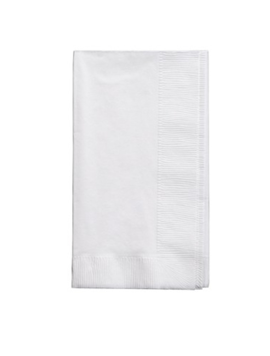 White  Dinner Paper Napkins